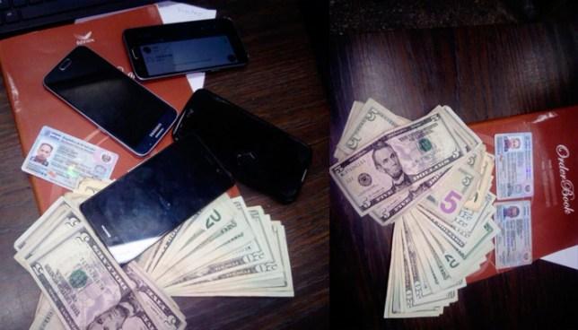 """Capturan a """"El Mafioso"""" y """"El Coyote"""" con más de 600 dólares y celulares en San Salvador"""