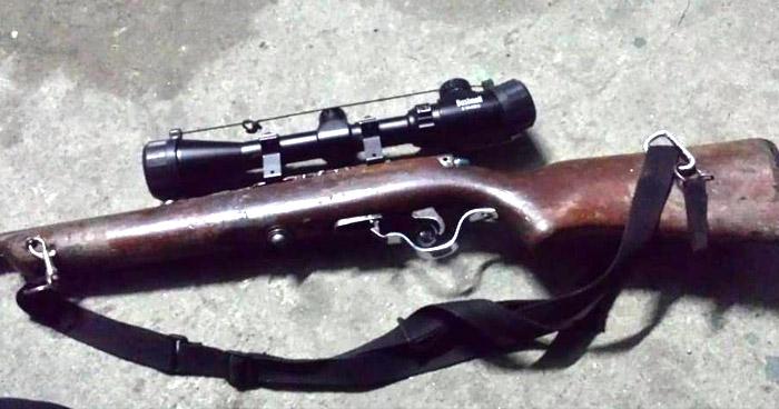 Incautan fusil con mira de larga distancia en San Vicente