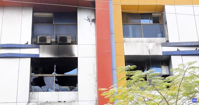 Trece pacientes con COVID-19 mueren en incendio de un Hospital en India