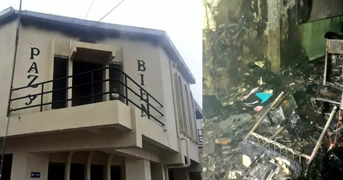 Incendio consume parte de un centro de cómputo de una escuela en Panchimalco