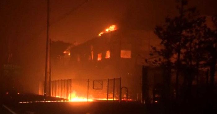 Gigantesco incendio en Corea del Sur deja un muerto y 11 lesionados