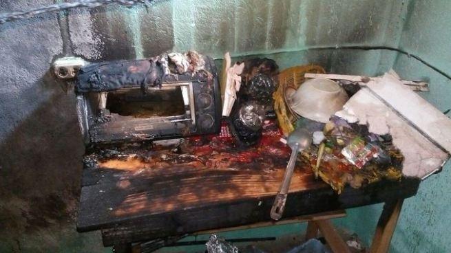 Tres lesionados luego que un cilindro de gas se incendiara dentro de una vivienda