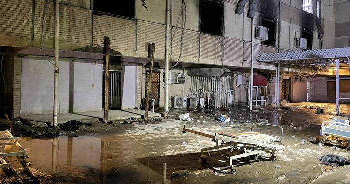 Más de 80 muertos en incendio de un hospital para pacientes con COVID-19 de Bagdad, Irak