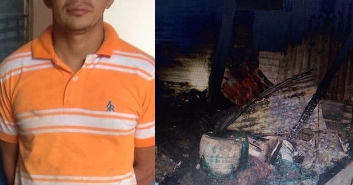 Incendió la vivienda de su ex compañera de vida