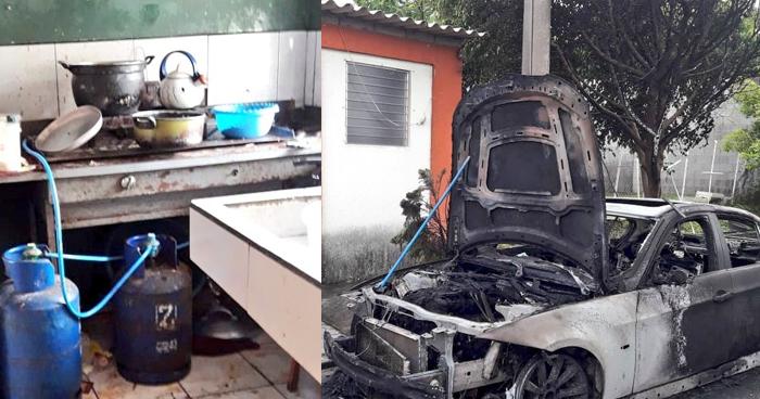 Fuga de gas generó incendio en vivienda de Quezaltepeque: dos personas quemadas