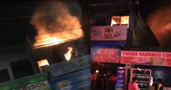 Incendio destruye tienda de mayoreo en Soyapango