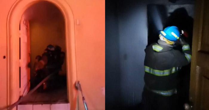 Grave incendio se generó en vivienda de colonia Flor Blanca, San Salvador