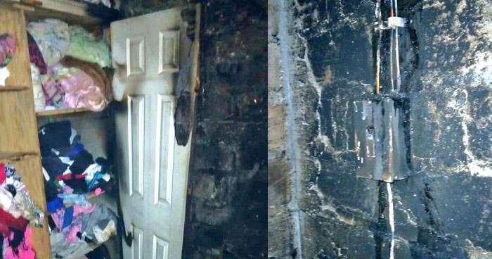 Persona con problemas mentales provoca incendio en vivienda de Chalatenango