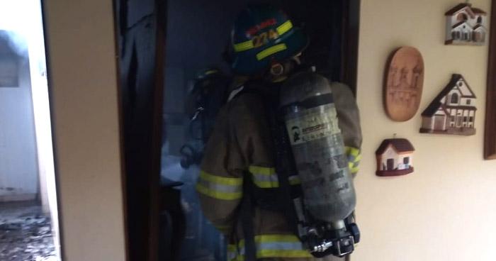 Incendio se registró en vivienda de la Avenida Masferrer Norte