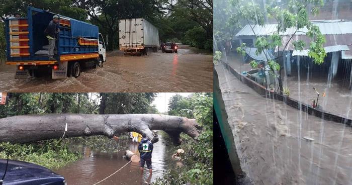 Un fallecido, inundaciones y deslizamientos de tierra tras activarse la Alerta Verde por lluvias