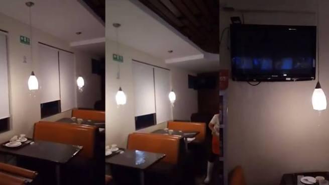 VIDEO | Se inunda reconocida cafetería en la capital a causa de las fuertes lluvias
