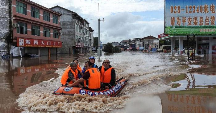 China declara alerta roja después de lluvias torrenciales que han dejado 21 muertos