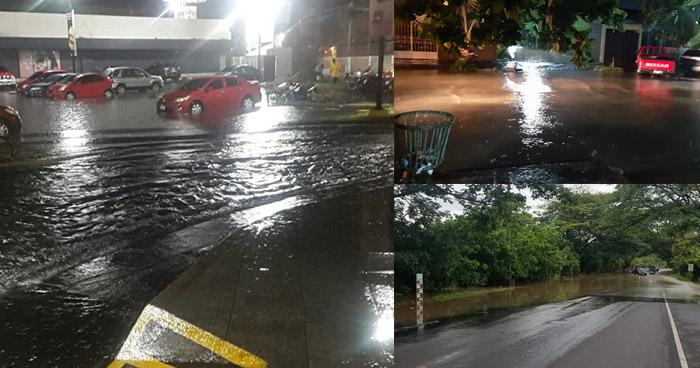 San Miguel bajo el agua, debido a intensa lluvia toda la noche