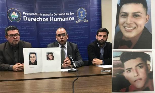 PDDH brinda detalles sobre caso de dos jóvenes privados de libertad y desaparecidos en La Paz