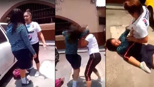 VIDEO | Una estudiante y una aficionada del Alianza se van a los golpes en Antiguo Cuscatlan