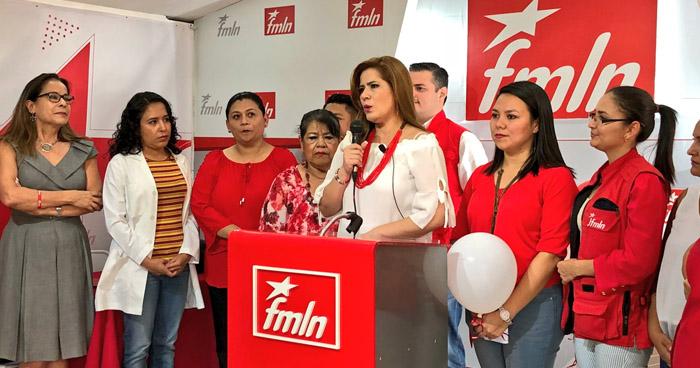 Diputada Karina Sosa buscará la vicepresidencia para ser compañera de fórmula de Hugo Martínez