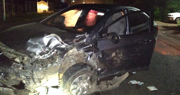 Conductor ebrio provoca choque y deja 5 lesionados en Mercedes Umaña, Usulután