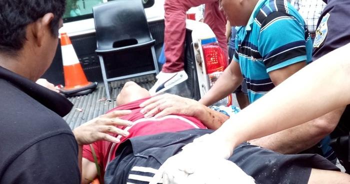 Tres lesionados tras grave choque en carretera a Santiago de María, Usulután