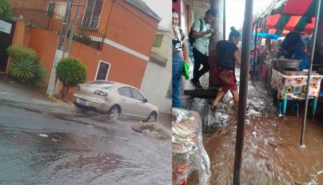 Primera lluvia causa inundaciones en calles de San Salvador y en un mercado de Usulután