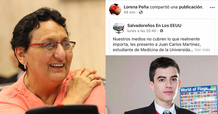 Lorena Peña cae en broma que hace pasar a actor porno por salvadoreño destacado