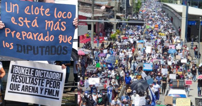 Masivas marchas en contra del gobierno en el Bicentenario de independencia