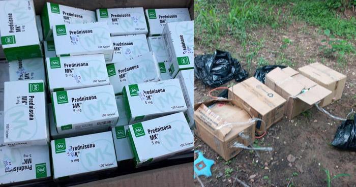 Decomisan más de 100 cajas de medicinas que ingresaban por punto ciego