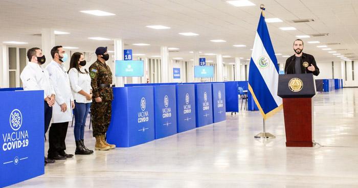 Presidente Bukele inaugura el Megacentro de Vacunación en el Hospital El Salvador