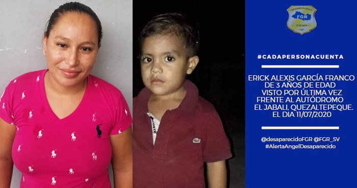Erick García, de 3 años de edad, fue asesinado a golpes por su tía