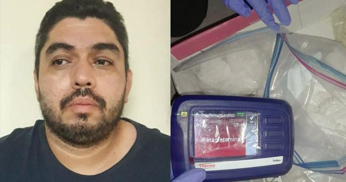 Encuentran 1.5 kilogramos de metanfetamina durante allanamiento en Colón, La Libertad