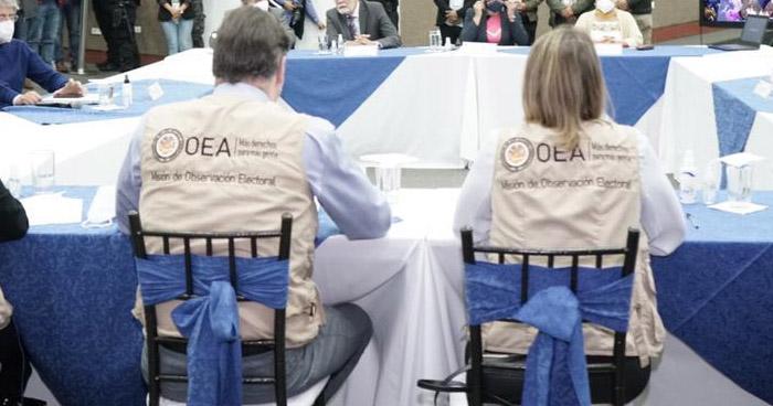Misión de la OEA evaluará durante 3 días la situación política del país