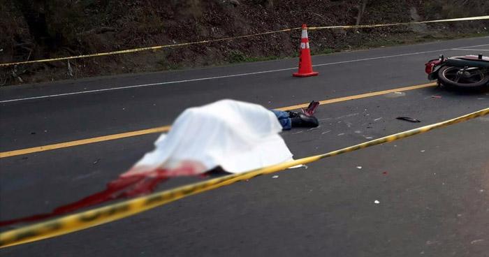 Muere agente de la PNC tras accidente de tránsito en carretera Litoral, en La Paz