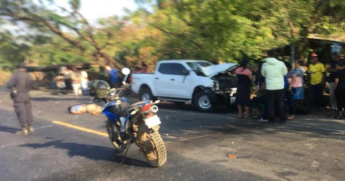 Motociclista fallecido tras accidente de tránsito en Jiquilisco, Usulután