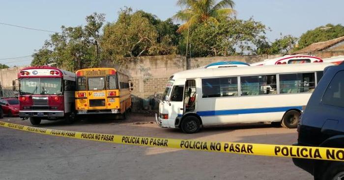 Matan a motorista de la ruta 140 en parqueo en colonia de San Martin