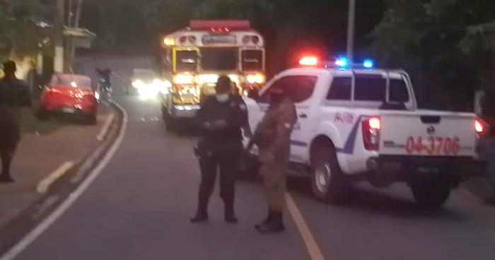 Asesinan a motorista de la Ruta 151 en San José Villanueva, La Libertad