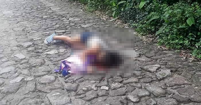 Mujer asesinada cuando regresaba con su hija del kinder en San Francisco Chinameca