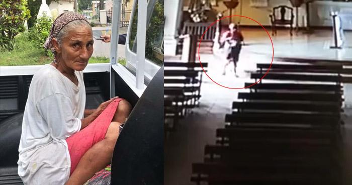 Capturan a mujer que hurtó imagen de la iglesia Santa Lucia, de Santa Ana
