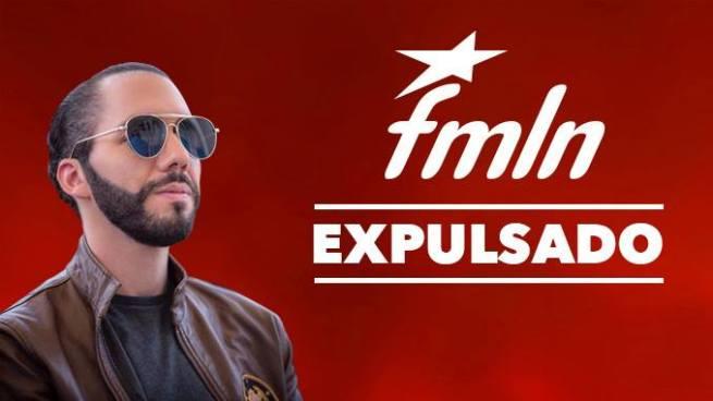 FMLN expulsa a Nayib Bukele del partido