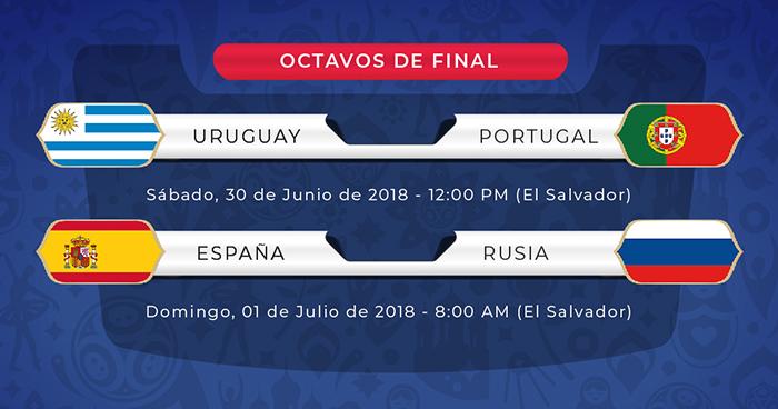 Portugal y España se clasifican a octavos y ya están listas las series de octavos de final