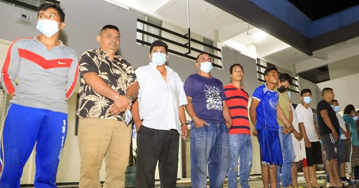Siete palabreros entre capturas durante operativos en el occidente del país