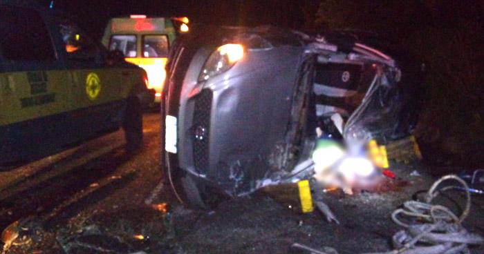 Conductor muere al chocar sobre carretera de Oro, en Soyapango