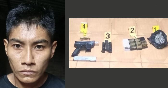 Capturan a pandillero armado cuando transportaba drogas