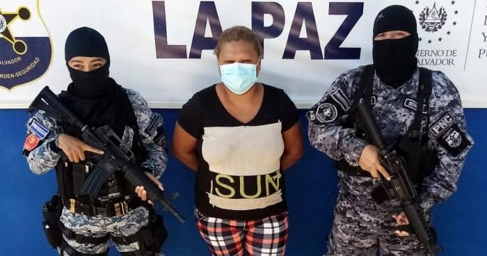 Capturan a reconocida pandillera en Zacatecoluca