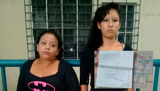 """Dos extorsionistas fueron capturadas mientras cobraban la """"Renta"""" en el centro de San Salvador"""