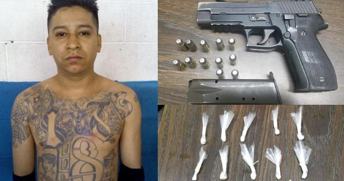 Capturan a pandillero armado que pretendía distribuir droga en San Salvador