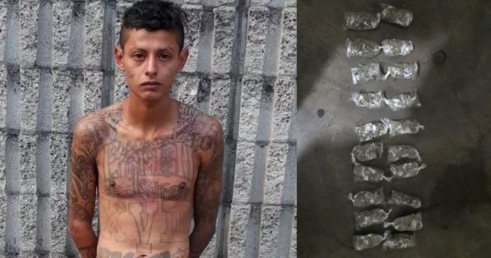 Capturan a un peligroso pandillero que se dedicaba a distribuir droga, en San Salvador