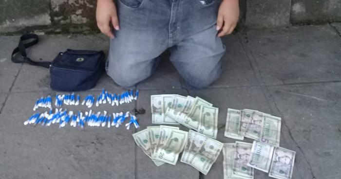 Pandillero distribuidor de droga intentó sobornar a policías para evitar su captura