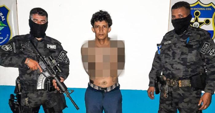 Capturan a peligroso pandillero que operaba en Santiago de María, Usulután