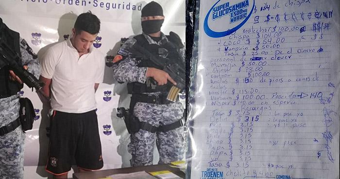 Incautan libreta donde registraba venta de droga en San Miguel
