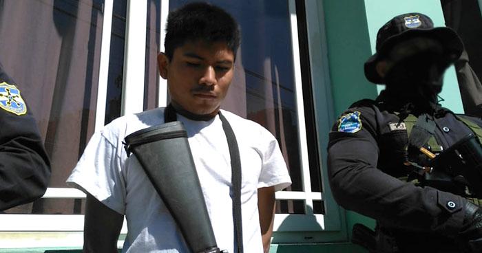 Joven pandillero tenía en su poder un M16 y era buscado por homicidio en Panchimalco