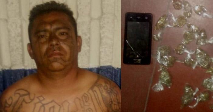 Palabrero de una pandilla fue capturado cuando distribuía droga en Tonacatepeque